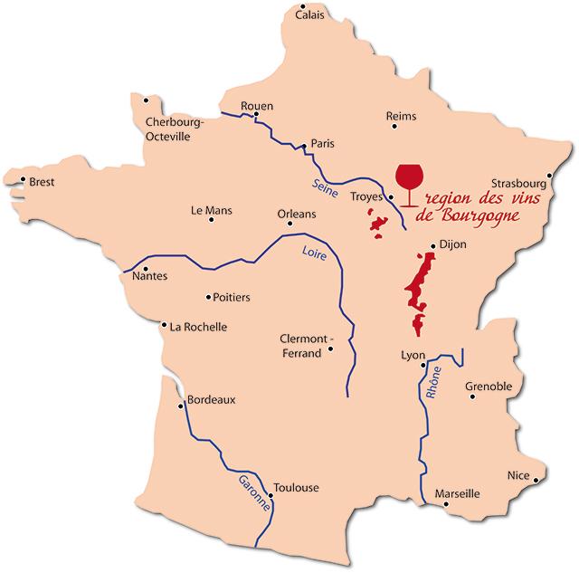 ブルゴーニュ 地図